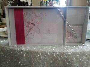 Pink Floral Wedding Guest Book And Pen Set By Lillian Rose,  Bridal Pen Set