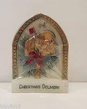Vintage 1978 Jasco Christmas Mailbox Bird Arch Sculpted Hand Painted Candle NIB
