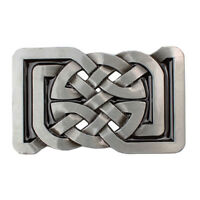 Alloy Celtic Pattern Belt Buckle Rectangle for Leather Belt Women Men Casual