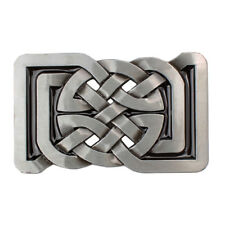Alloy Celtic Pattern Belt Buckle Rectangle for Leather Belt Women Men Casual