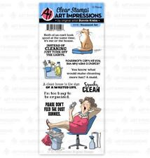 Art Impressions Clear Stamp Set ~ HOUSEWORK SET Cleaning, Humor, Funny -5110