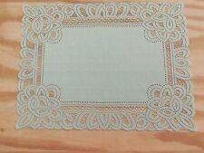New Pear Lace Battenburg design Table Doily/Placemat 19 x 14 set of 2
