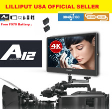 """Lilliput A12 12.5"""" 4K/FULL HD Broadcastor SDI HDMI Displayport W/F970 battery"""