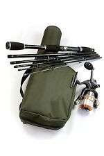 TRAVEL FISHING ROD REEL AND CASE RIGGED & READY + HC