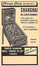 Advertising Postcard Chicago Coin's Shanghai Pinball Machine~109132