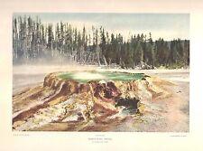 "F Jay Haynes Photo Art Print ""Punch Bowl Spring"" Yellowstone National Park 1930s"
