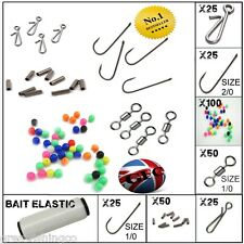 SEA Tackle Kit rendere 50 piattaforme pesca muove Perline Ganci + Esche ELASTICO
