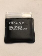 NIXON The Banks Gunmetal And Gold Link!