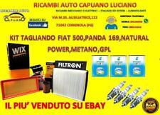 KIT TAGLIANDO + 4 CANDELE FIAT 500 PANDA 169 312319 NATURAL POWER 1.2 GPL METANO