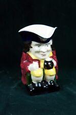 H & K Tunstall England TOBY mug Colonial figure Ceramic