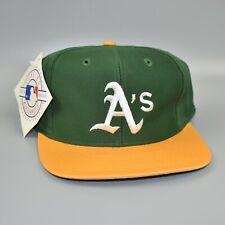 Oakland Athletics MLB Vintage 90's Twins Enterprise Snapback Cap Hat - NWT