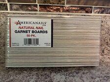50 Pack Americanails Natural Nail Garnet Boards