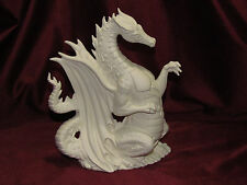 Fire Dragon U-Paint Ceramic Bisque Figurine Fantasy Unpainted Ready To Paint