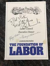 Bob Hawke And Hazel Hawke Signed Dinner Menu