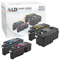 LD Compatible Dell E525w Toner Cartridge Set: 1 Black 1 Cyan 1 Magenta 1 Yellow