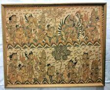 "Amazing Indonesian kamasan Religious Painting Tapestry Asian Bali Art 32""x39"