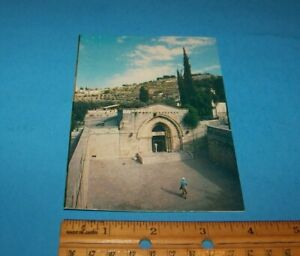 "Israel ""Tomb Of The Virgin""  Postcard Vintage Israel Travel Memorabilia"
