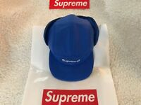 SUPREME PRIMALOFT EAR FLAP CAMP CAP 🧢 SOLD OUT - BLUE - M/L - F/W18*