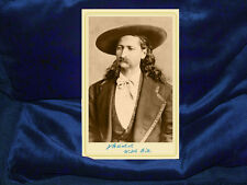 WILD BILL HICKOK Old West Gunfighter Legend Cabinet Card Photograph Vintage CDV