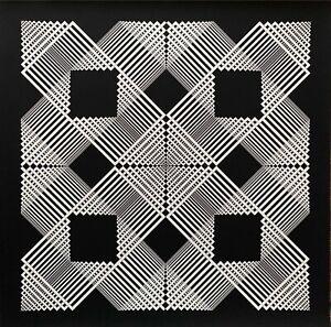 Angelo Giuseppe Bertolio serigrafia Architettura Modulare di un Quadrato 68x68