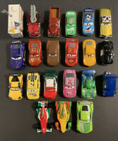 Lot of 21 Disney Pixar Cars Diecast Bigger 1:43  ~ McQueen Racers Red Dinoco+++