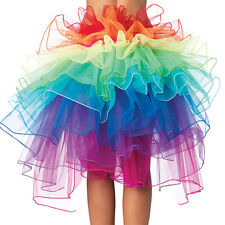 Rainbow Neon Rave Dance Ballet Tutu Ruffle Tiered Fancy Skirt Clubwear Xmas TOCA