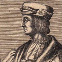 Portrait XVIIe Gaston De Foix Nemours Général Armées Louis XII  Défense Milanais