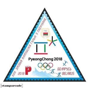 BELARUS 2018 XXIII Olympic Winter Games Pyeongchang ODD SHAPE Sports stamp