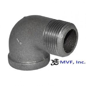 """3/8"""" 150 NPT 90° Street Elbow Black Malleable Iron Fitting <MI100341BMI"""