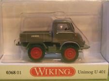MB Unimog U401 Pritsche  grau        Wiking Nr : 036801