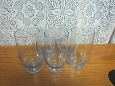 Set Of 5~Vintage LIBBEY Tumbler Glasses~With Blue Tint~10 oz