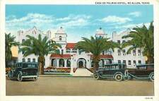 Texas, TX, McAllen, Casa De Palmas Hotel 1920's Postcard