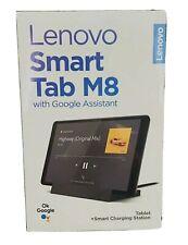 Lenovo Smart Tab M8 w/ Google Assistant Tablet+Smart Charging Station Dock *NEW*