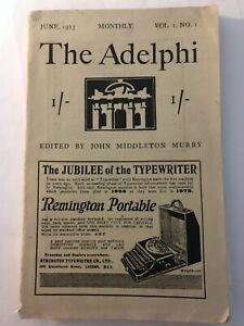 The Adelphi Vol 1 No 1 1923 - John Middleton Murry Anton Tchehov D H Lawrence