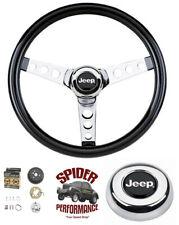 """1967-1975 Jeep CJ5 CJ6 steering wheel 13 1/2"""" GLOSSY GRIP steering wheel"""
