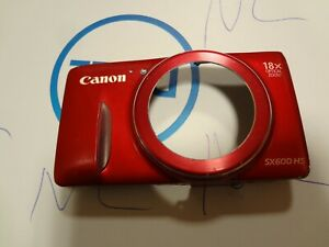 GENUINE CANON POWERSHOT SX600 IS FRONT CASE RED PARTS FOR REPAIR