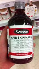 SWISSE Ultiboost Hair Skin Nails Liquid 500ml Easy to Absorb Collagen Splitting