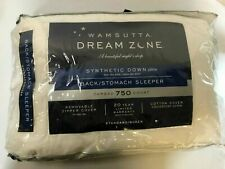 Wamsutta Queen Pillow Dream Zone 750 Thread Count. Synthetic Down Back Sleeper