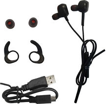 New Jabra ROX Wireless Black InEar Headset Bluetooth + Earwings Gels Strong Bass