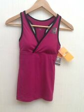 NEW Champion Womens DARK PINK Duo Dry Max Tank Top XS breathable racerback NWT