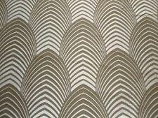 Harlequin Curtain Fabric DECO 2.8m Silver/Cappucino 100% Silk -Art Design 280cm