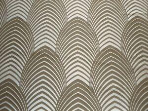 Harlequin Curtain Fabric DECO 2.8m Silver/Cappucino 100% Silk - Design 280cm
