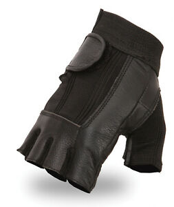 Fingerless Sports Cycling Bicycle Gloves Amara Half Finger Padded Palm Leather