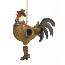 Outdoor Gifts for Cowboys Boots Police Rooster Collector Birdhouse Western Decor
