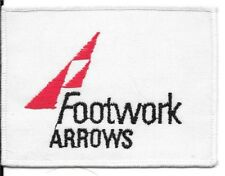 FOOTWORK ARROWS FORMULA 1 F1 EMBROIDED SEW ON FABRIC BADGE PATCH UN USED F1