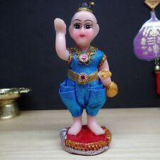 Guman Thong Boy Ghost Beautiful Statue good Luck Thai Buddha Amulet Call Money