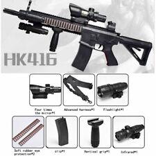 Tactical HK416 Plastic Water Bomb Bullet Toy Gun Gel Ball Blaster Kids CS Game