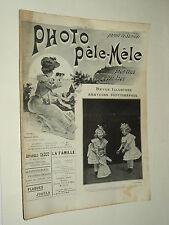 Revue Photo Pele Mele N°11  9/1903  photographie journal magazine stéreo book