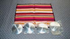 1/8 Scale: 4 individual Aluminum Salt Flat Discs w/ 1 Serape Blanket