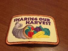 Sharing Our Harvest Cornucopia embroidered patch